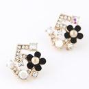 Korean Alloy Czech drilling earrings NH220849
