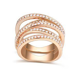 Austrian Imitated crystal Ring - Meizu (champagne + White) 20239