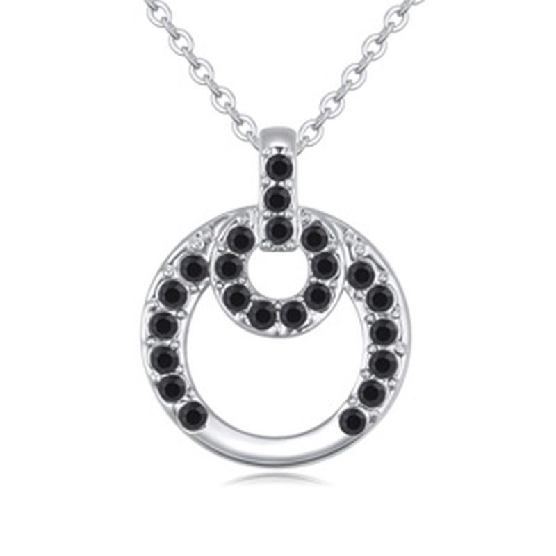 Austrian imitated crystal necklace  boudoir honey Black 20284