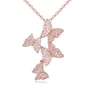 AAA grade necklace Micro Pave CZ - Loving Splendour (Rose Alloy) 20366
