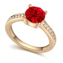 Austrian Imitated crystal Ring  must shadow champagne + light red 20418