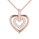 Austrian imitated crystal necklace  Reviews sense alloy + rose color 20511