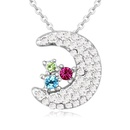 Austrian imitated crystal necklace  next month breeze color 20522