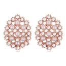 Austrian imitated crystal earrings  clusters of flowers white 20108