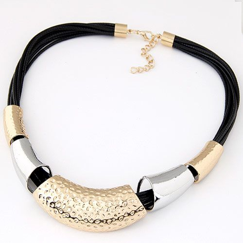 Occident  fashion simple metal wax rope   temperament necklace 222190