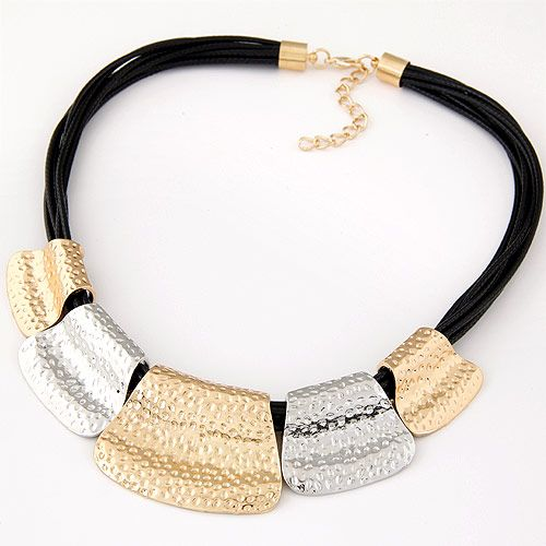 Occident  fashion simple metal wax rope   temperament necklace 222189