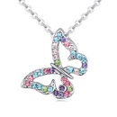 Austrian imitated crystal necklace  Fantasy Butterfly Wings white color 20796