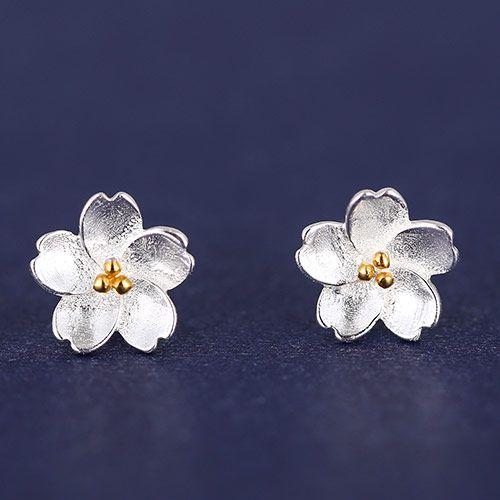 Korean fashion  sweet personality rich flowers earrings 223130