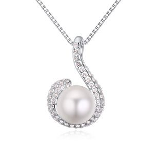 Austrian imitated crystal necklace  blues white NHKSE22213