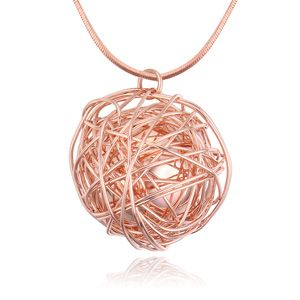 Alloy sweater chain - Reproduction (Rose Alloy) NHKSE22180