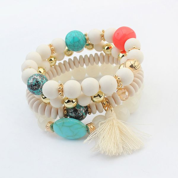 Occident and American fashion small fresh fringed beads bracelet (white) NHNPS1371