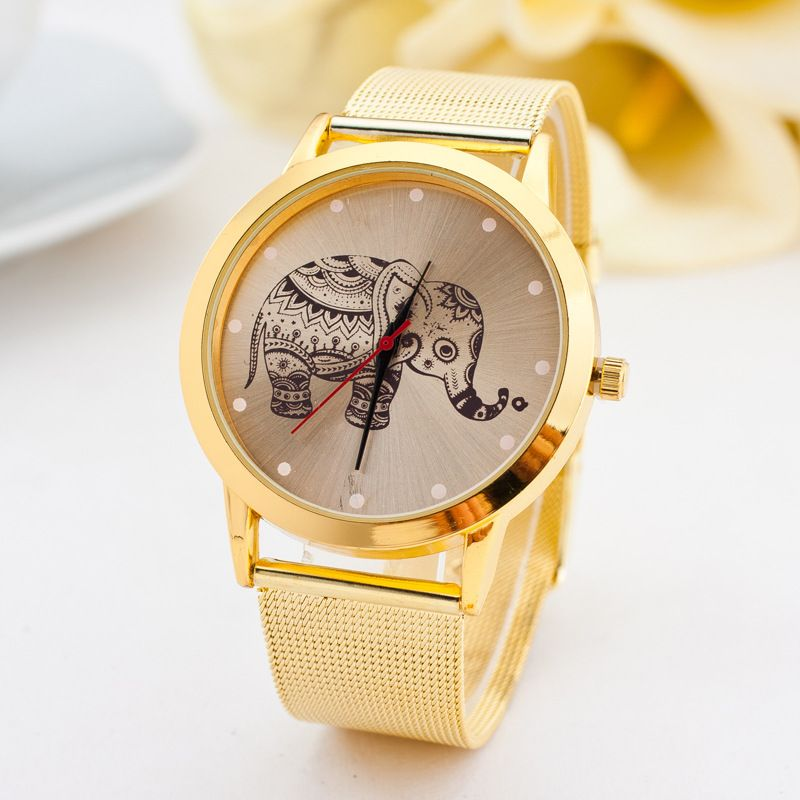 Leisure Ordinary glass mirror alloy watch (butterfly) NHSY0038