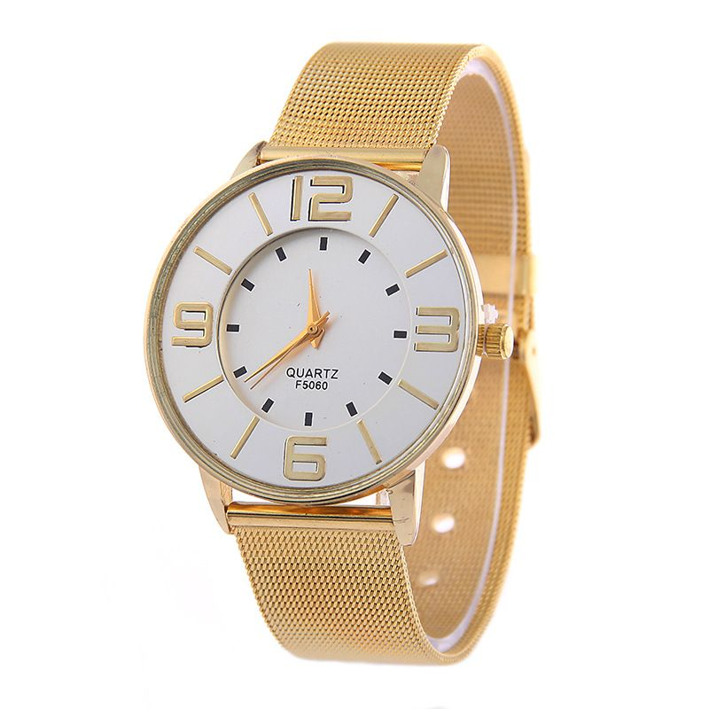 Leisure Ordinary glass mirror alloy watch (Alloy) NHSY0085
