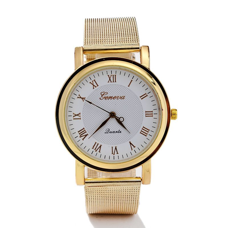 Leisure Ordinary glass mirror alloy watch (Alloy black surface) NHSY0088