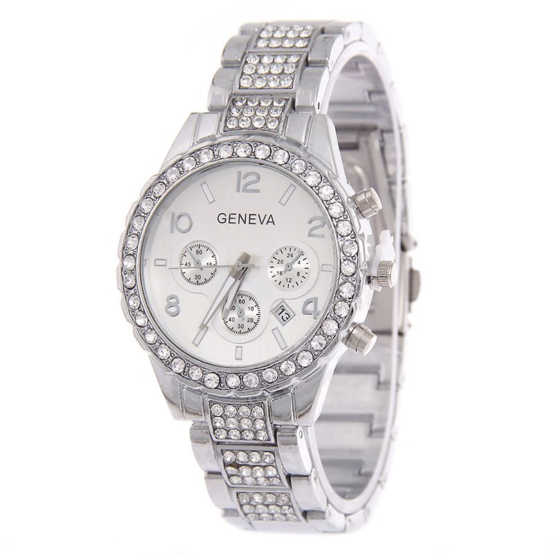 Leisure Ordinary glass mirror alloy watch (Alloy) NHSY0504