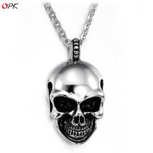 Korean / Korean / Korean models Titanium steel plating necklace (Pendant + chain) NHOP0358's discount tags