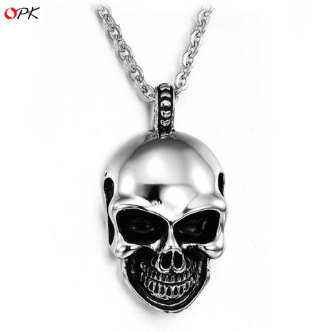 Korean / Korean / Korean models Titanium steel plating necklace (Pendant + chain) NHOP0358's discount tags