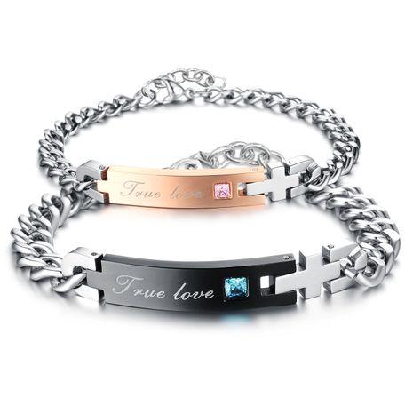 Korean version of Korean / Korean style Titanium steel Rhinestone Bracelet (Female models) NHOP0576's discount tags