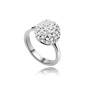 Imitated crystal Ring  Prettily  White  6075 SIZE 8 US