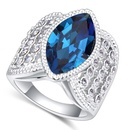 Austrian Imitated crystal Ring  Love sparse track away dark blue NHKSE22339 SIZE 9 US