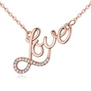 AAAgrade microset zircon necklace love rose alloy NHKSE24160
