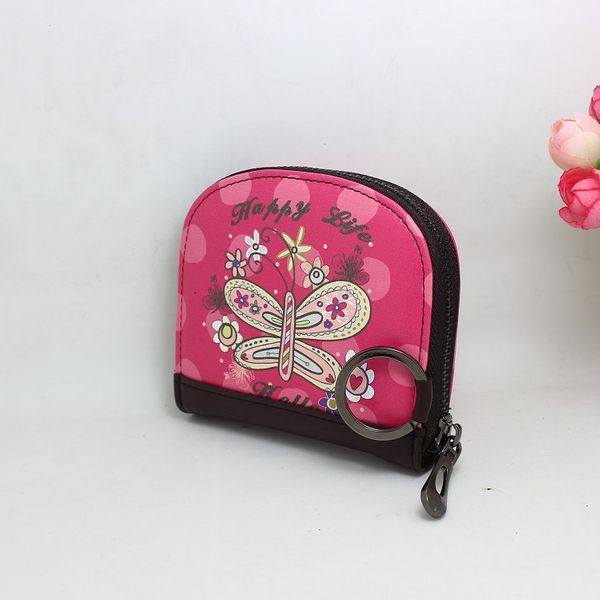Korean version PU leather Synthetic Leather fashion purse (Flower world) NHNI0187