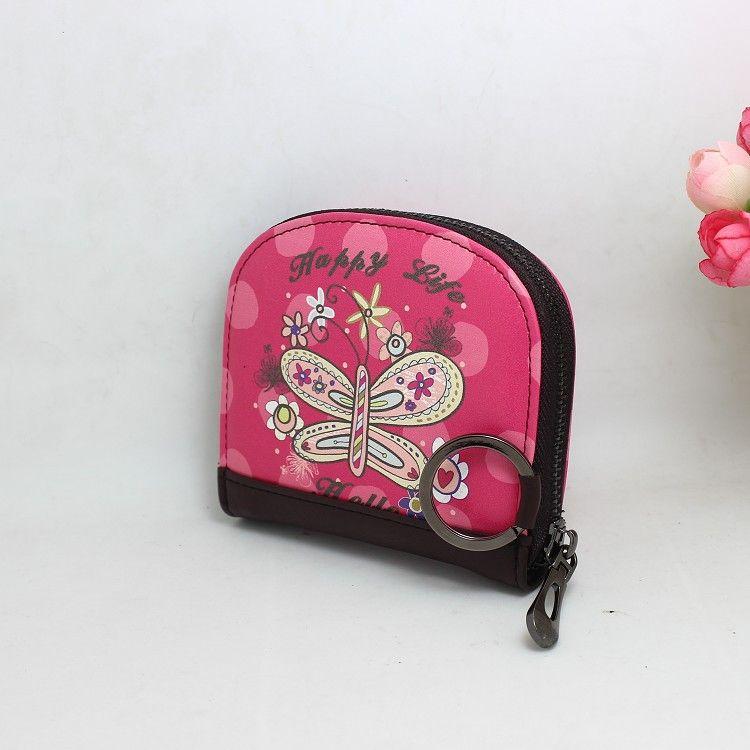 Korean version PU leather Synthetic Leather fashion purse (Flower world) NHNI0187