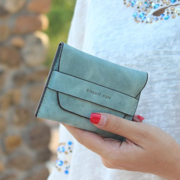 Japanese style PU leather Synthetic Leather fashion purse (Green and green) NHNI0222