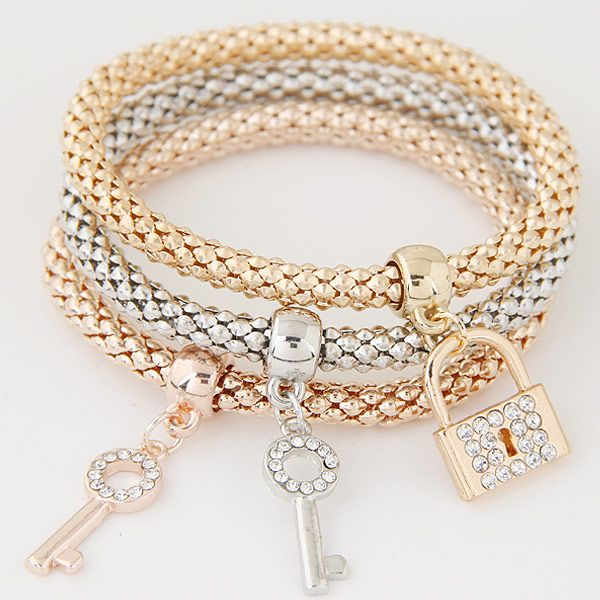 Alloy Rhinestone Bracelet NHNSC4689
