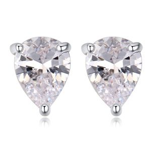 AAA MicroInlaid CZ Earrings  Snow White White NHKSE24316