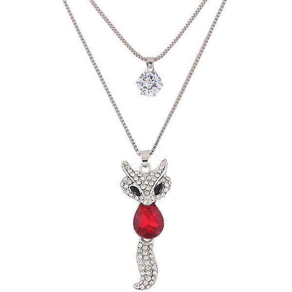 Alloy rhinestone zircon necklace NHNSC5656