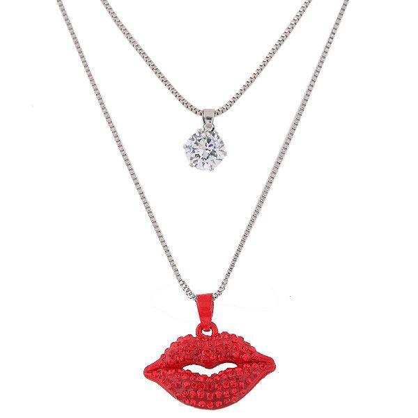 Alloy rhinestone zircon necklace NHNSC5668