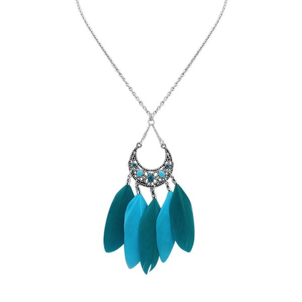 Fashion Crescent Necklace (Green) NHNPS1646