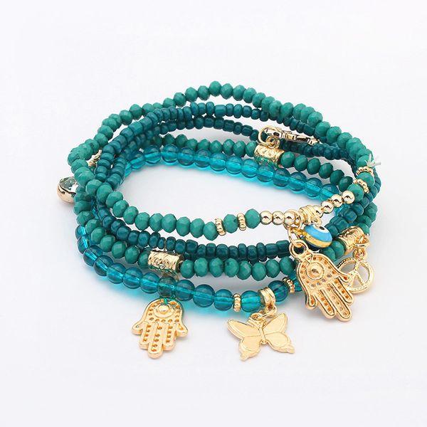 Occident fashion Buddha Heart Bracelet (Green) NHNPS0303