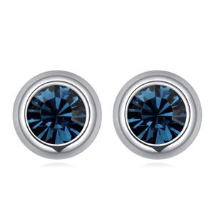 ?Austrian imitated crystal earrings - unique Star (blue ink) NHKSE22730