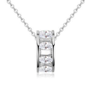 Necklace AAA grade Micro Pave CZ  overflow Yan Platinum NHKSE22482