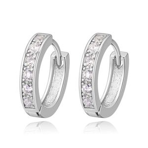 ?AAA grade Micro Pave CZ earrings - pleasing entertainment center (Platinum) NHKSE22465