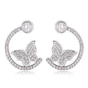AAA grade zircon earrings  Splendour sea Platinum NHKSE22440