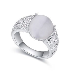 Austrian Imitated crystal Ring  Independent white NHKSE22354