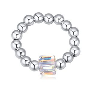 Austrian Imitated crystal Ring  Aozora of blue the color white NHKSE23064