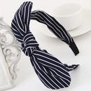 Blue ink Korean wild striped bow broadside headband  hair bands hair accessories NHNSC2026