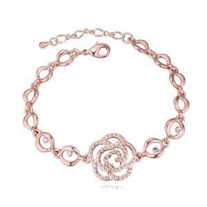 Austrian imitated crystal bracelet  Amidst the rock Rose alloy + pale peach NHKSE23135