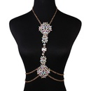 Occident alloy flowers necklace  Photo Color  NHJQ4221