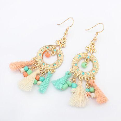 Boucles d'oreilles pompon cercle de mode Occident (couleur) NHNPS0772's discount tags