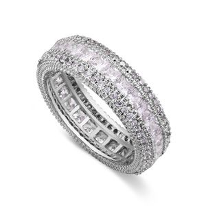 AAA grade Micro Pave CZ Ring - Aster tail (Platinum) NHKSE23682