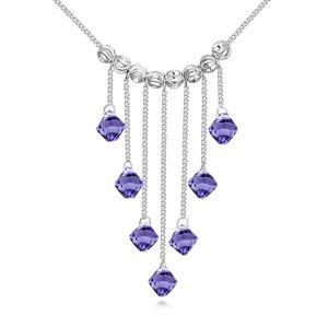 Austrian imitated crystal necklace  Su Jin fleeting Tanzanite NHKSE23580