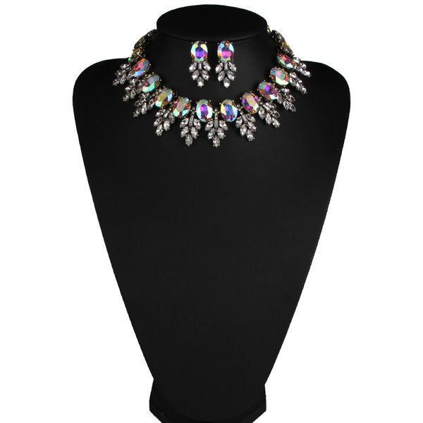 Occident alloy Geometric necklace ( White color ) NHJQ5529