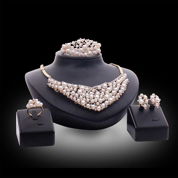 Occident alloy Drill set earring + necklace + Bracelet NHXS0581