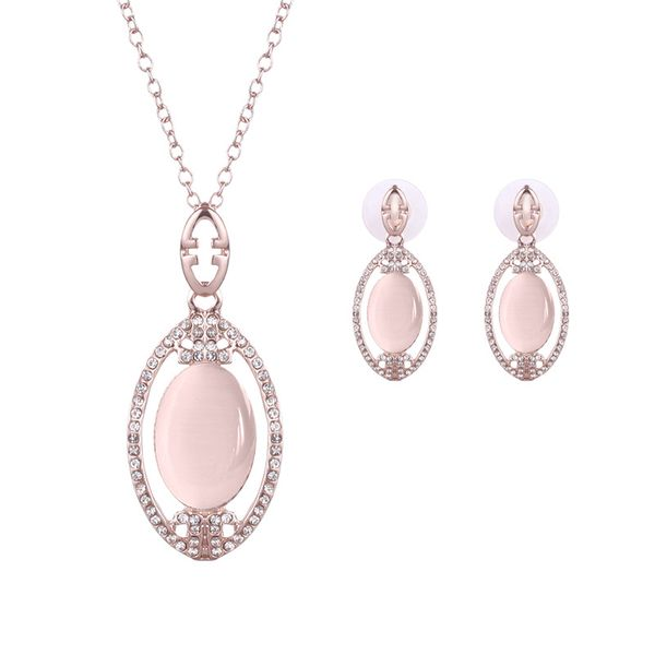 Occident alloy Drill set earring + necklace NHXS0614