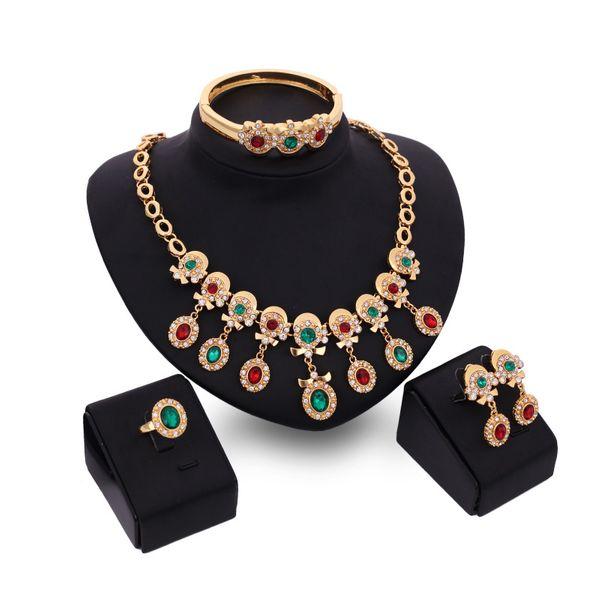 Occident alloy Drill set earring + necklace + Bracelet NHXS0707